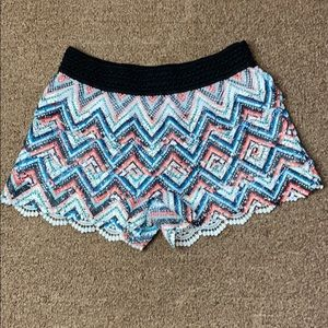 NO BOUNDARIES Large Juniors Crochet Shorts
